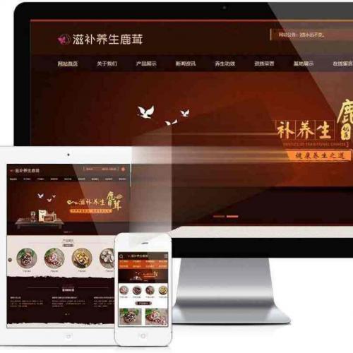 滋补养生鹿茸保健品公司企业网站模板源码 PC+WAP