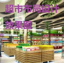 超市布局设计效果 卖场陈列设计与布局平面图片