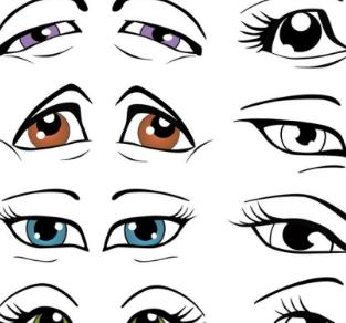 动漫/插画人物眼睛画法の上千种画法步骤[500多P]