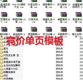 180套营销宣传单页/竞价单页网站模板+订单管理系统源码