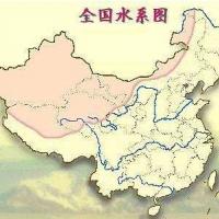 中国水系分布地图 1-6级全国水系高清版大图