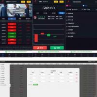 外汇股指点位盘系统源码 完美风控系统+数据