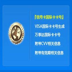 visa虚拟信用卡卡号码生成器 CVV/有效期 一键批量生成