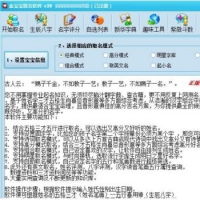 宝宝生辰八字起名 取名软件破解版 含注册码
