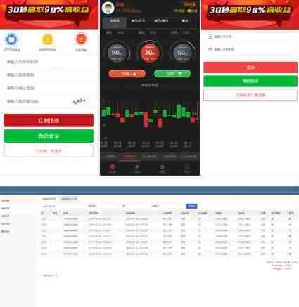 新版微交易金属时间盘+财经资讯网站源码