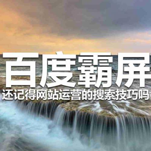 「百度霸屏教程」首页seo霸屏技术操作方法
